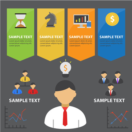 style template: Colorful Business Infographic Banner Template and Presentations Advertising Design Flat Style