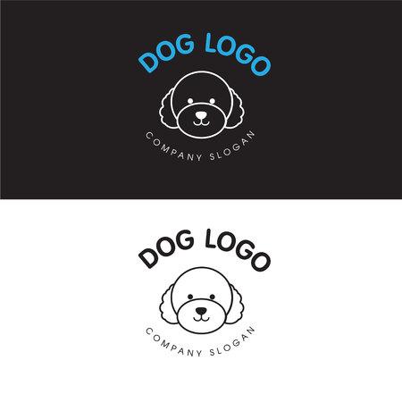 Abstract Poodle Dog Logo Design Illustration