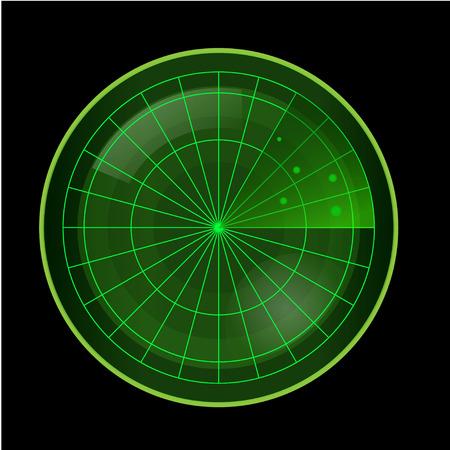 blip: Green Radar Screen on Black Background