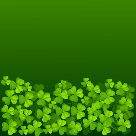 st pattys day: Leaf Clover Green Background