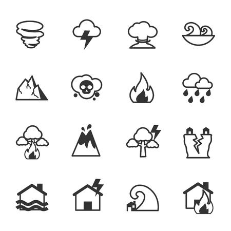 Natural Disaster Icons, Vector Illustration Design