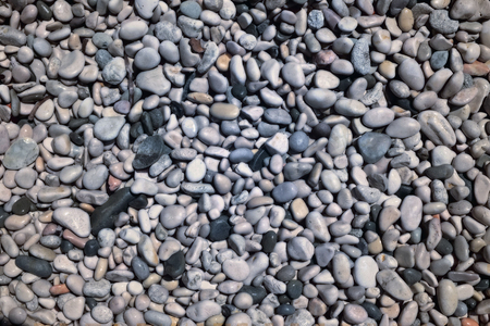 pebble texture on sea shore - pattern, cold tones, close up Imagens - 99270144