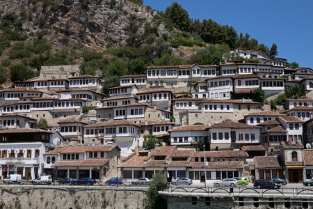 medieval Berat city view in Albania Imagens - 99270146