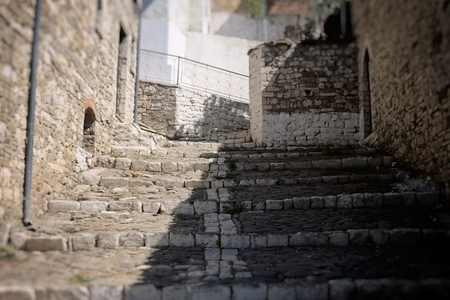 medieval stairs in Berat city, Albania, heritage, soft, blurred Imagens - 99270148