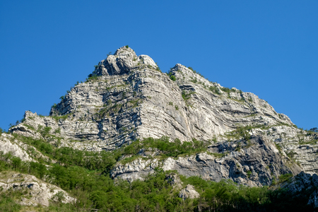 high craggy mountain top and blue sky in Bosnia and Herzegovina