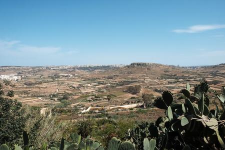 Gozo island landscape with hills