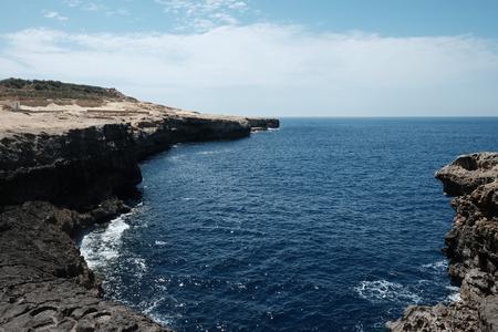 cliffs and sea, Marsalforn, Gozo island, Malta Imagens - 102026759