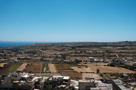 Malta 2018 - Gozo island landscape, sea, villages, fields Imagens - 102137769