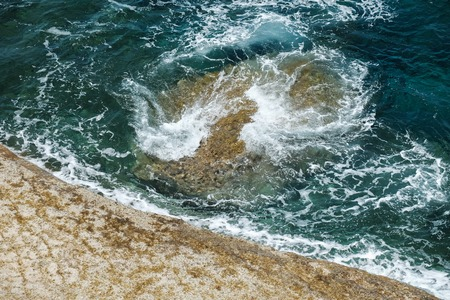 dangerous swirl and underwater rock - mediterranean sea Stock fotó