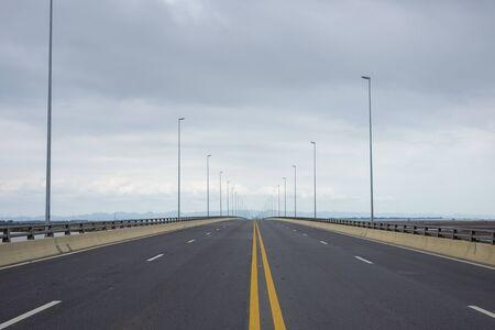 middle of empty road in Vietnam
