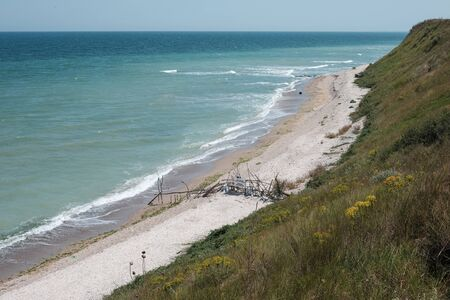 seashore and state border at vama veche