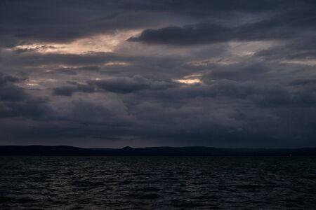 storm at lake Balaton, plattensee - dark tones