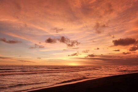parangtritis beach indonesia late sunset