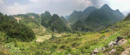 panoramic view at north Vietnam Ha Giang province