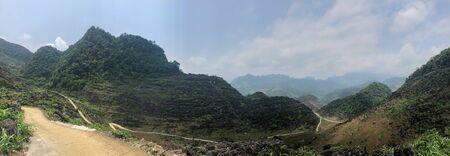 panoramic view of north Vietnam Ha Giang province 写真素材