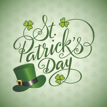 Saint Patricks Day Hand Lettered Background Ilustrace