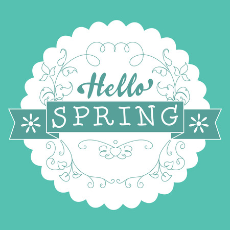 springtime: Hello Spring Vector Illustration