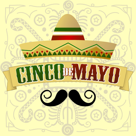 Cinco de Mayo Moustache Vector