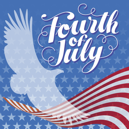 fourth july: Fourth of July illustration