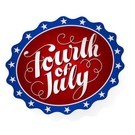 Fourth of July Badge
