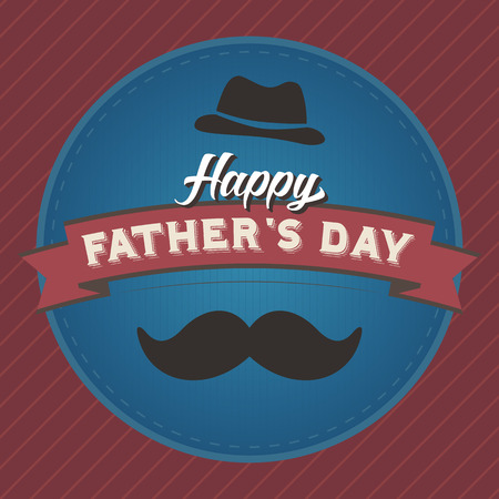 father: Happy Fathers Day Badge