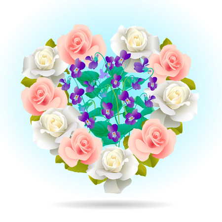Heart Shape Filled with Flowers