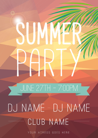 summer holiday: Summer Party Flyer