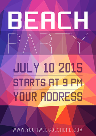beach party: Summer beach Party Flyer Illustration