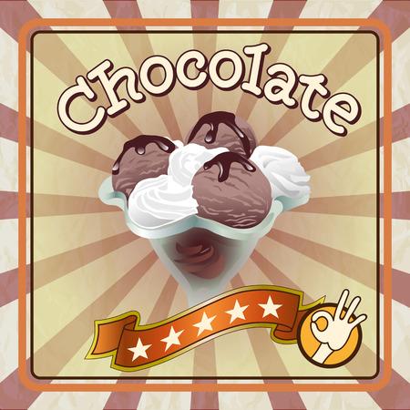 Chocolade-ijs Stock Illustratie