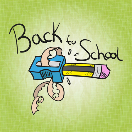 hand writing: Back to School Vector Illustration
