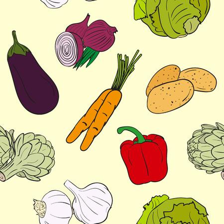 chives: Vegetables Pattern