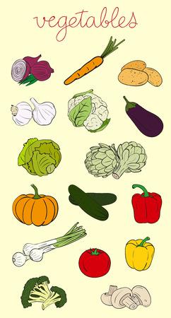 Groenten Set Stock Illustratie