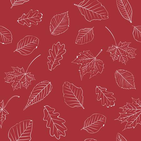 autumn background: Autumn Leaves Pattern Background