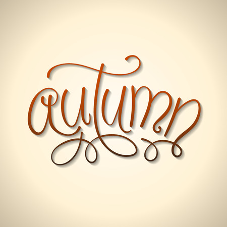 hand lettered: Hand Lettered Autumn Text Background