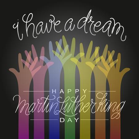 Ich habe einen Traum. Martin Luther King Illustration. Vektorgrafik