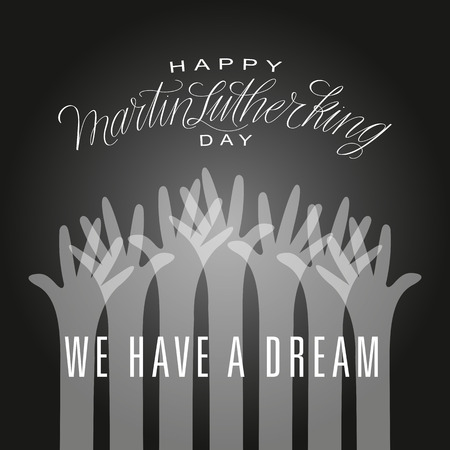 I Have a Dream. Martin Luther King Illustration.