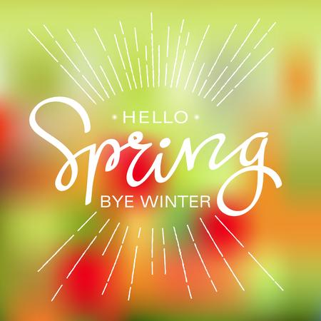 spring out: spring sale hand letter. vector illustration Illustration