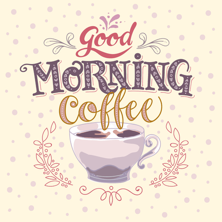 Good morning coffee vector made illustration 向量圖像