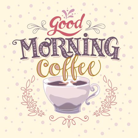 Good morning coffee vector made illustration Illustration