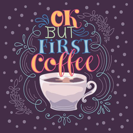 Good morning coffee time made vector illustration