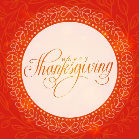 Gelukkige dankzeggingsdag. Hand lettered vector illustratie