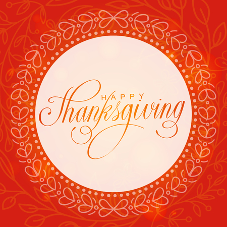 Happy thanksgiving day. Hand lettered vector illustration Illustration
