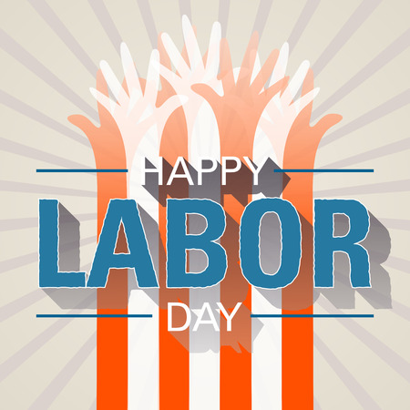 Happy labor day. Handmade vector illustration 向量圖像
