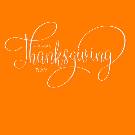 happy thanksgiving day hand letter. Handmade vector illustration