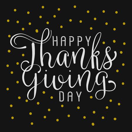 happy thanksgiving day handmade vector illustration