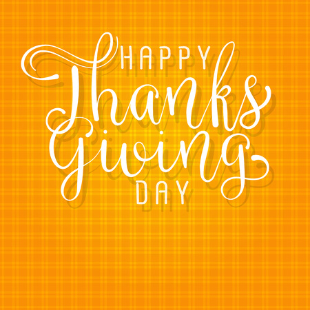 happy thanksgiving day handmade vector illustration