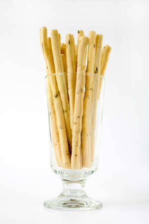 snacking: Rosemary Bread Sticks in a glass and ready for snacking