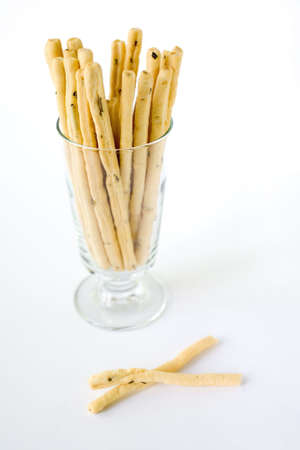 Rosemary Bread Sticks in a glass and ready for snacking