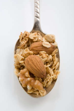 Spoonful of Granola Cereal with Almond
