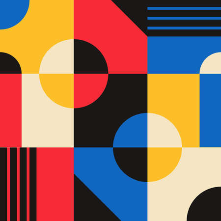 Abstract vector geometric pattern design in Bauhaus style Vektorgrafik